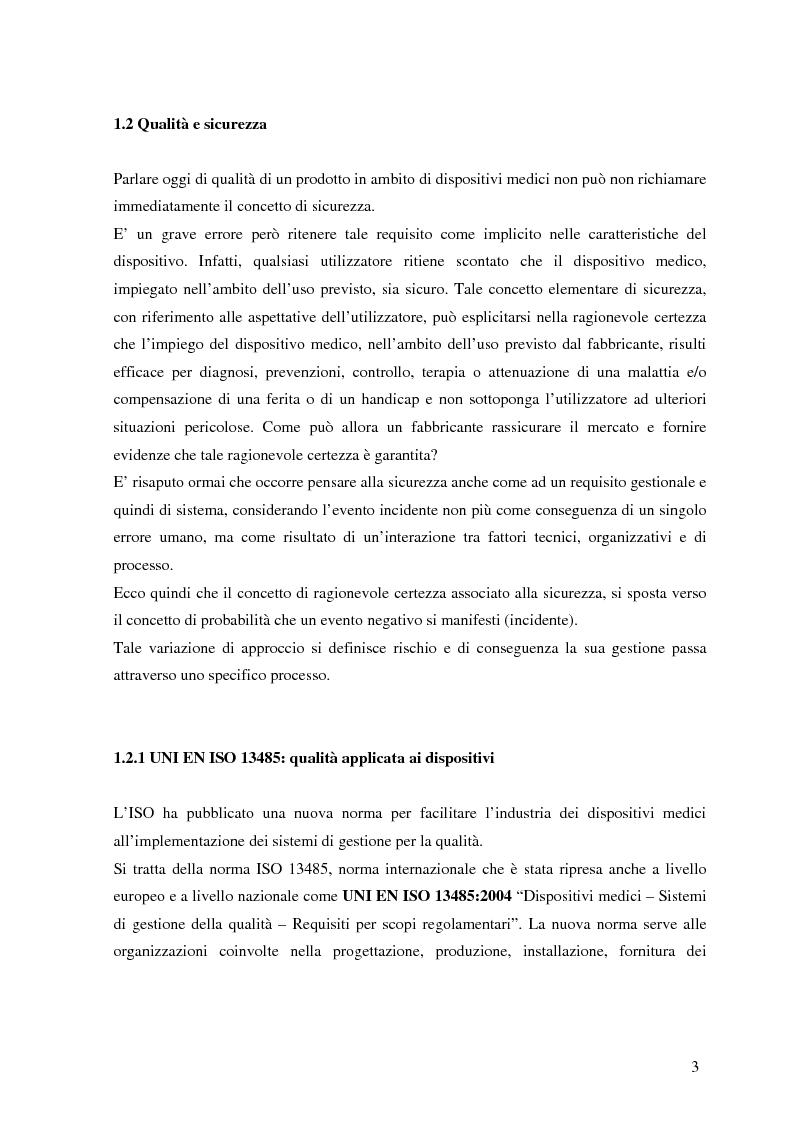 Anteprima della tesi: Dispositivi medici: certificazione, sicurezza e rintracciabilità, Pagina 3