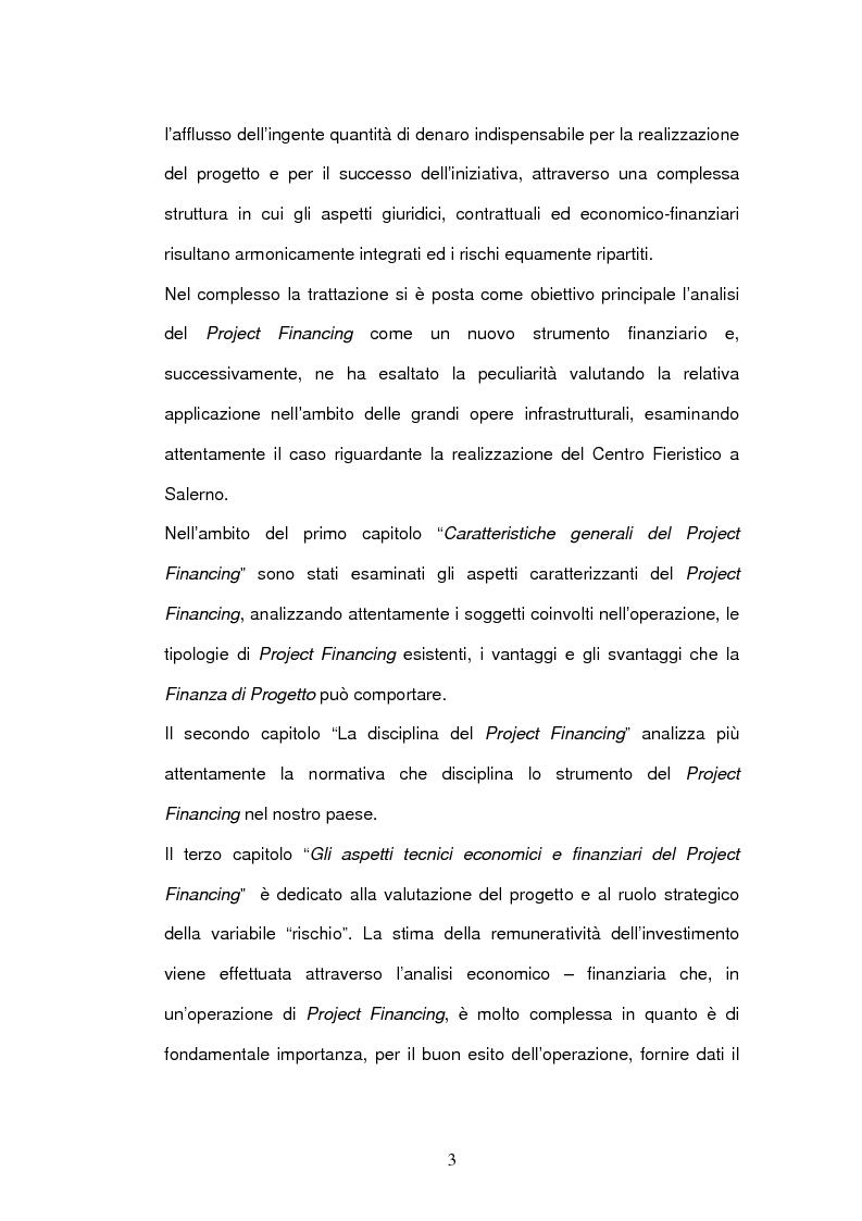 Anteprima della tesi: Un nuovo strumento di finanza innovativa: il Project Financing, Pagina 2