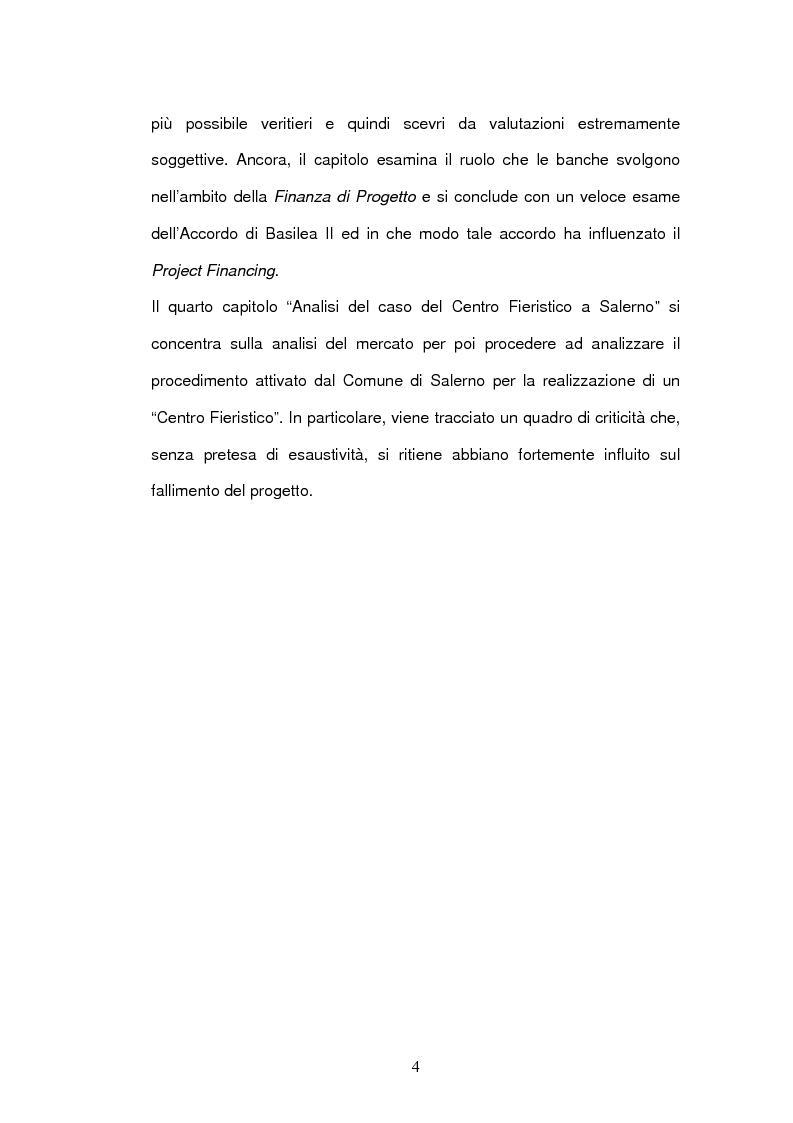 Anteprima della tesi: Un nuovo strumento di finanza innovativa: il Project Financing, Pagina 3