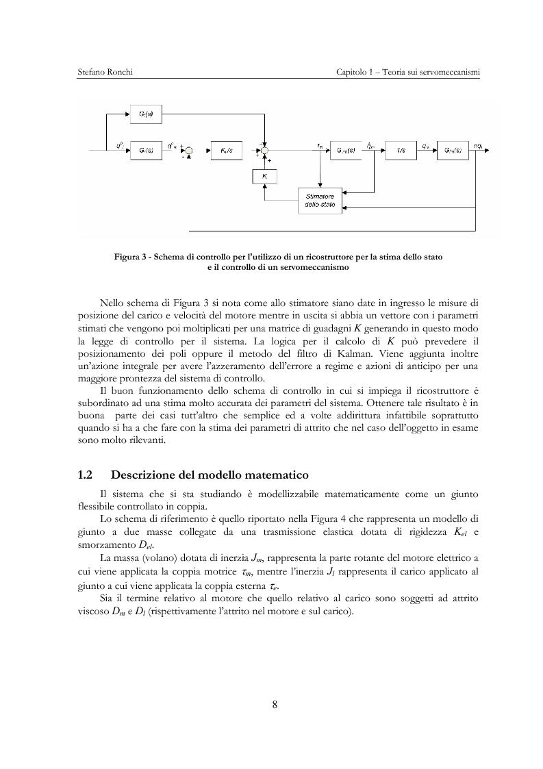 Anteprima della tesi: Modellistica e analisi delle prove sperimentali su un giunto robotico per applicazioni spaziali, Pagina 5