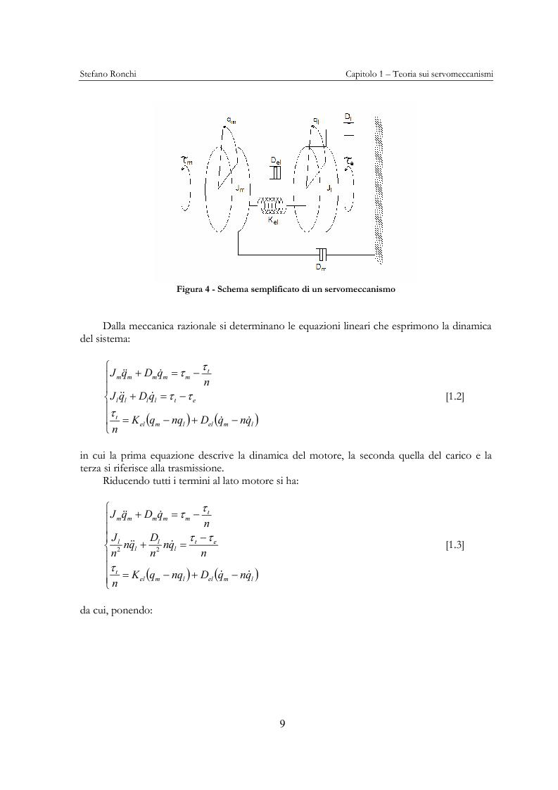 Anteprima della tesi: Modellistica e analisi delle prove sperimentali su un giunto robotico per applicazioni spaziali, Pagina 6