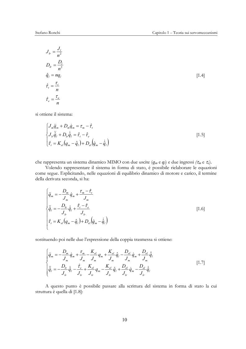 Anteprima della tesi: Modellistica e analisi delle prove sperimentali su un giunto robotico per applicazioni spaziali, Pagina 7