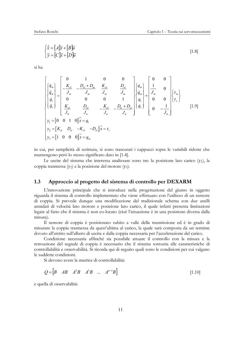 Anteprima della tesi: Modellistica e analisi delle prove sperimentali su un giunto robotico per applicazioni spaziali, Pagina 8