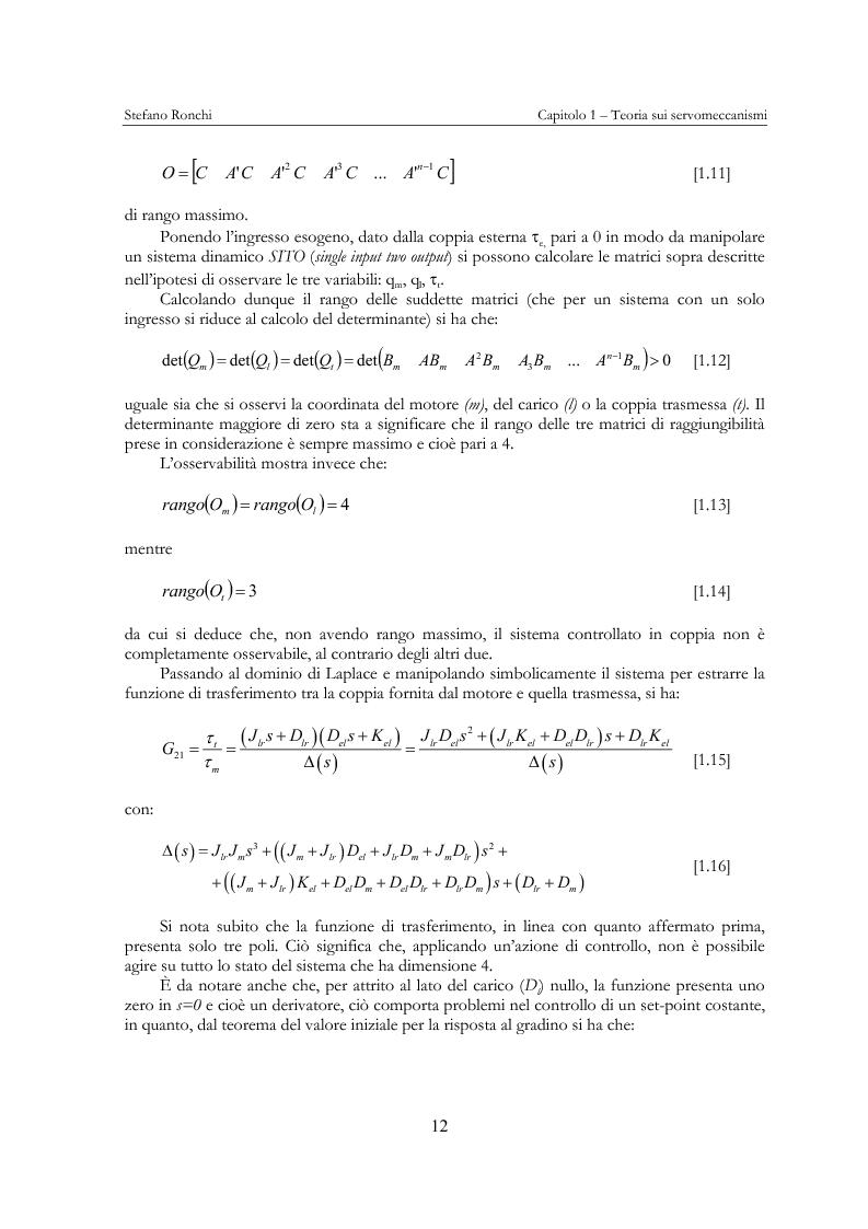 Anteprima della tesi: Modellistica e analisi delle prove sperimentali su un giunto robotico per applicazioni spaziali, Pagina 9