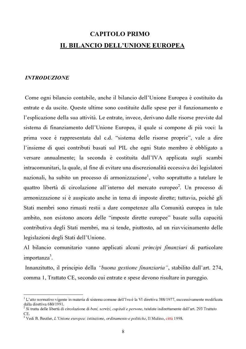 Anteprima della tesi: La tutela degli interessi finanziari nell'Unione europea, Pagina 1