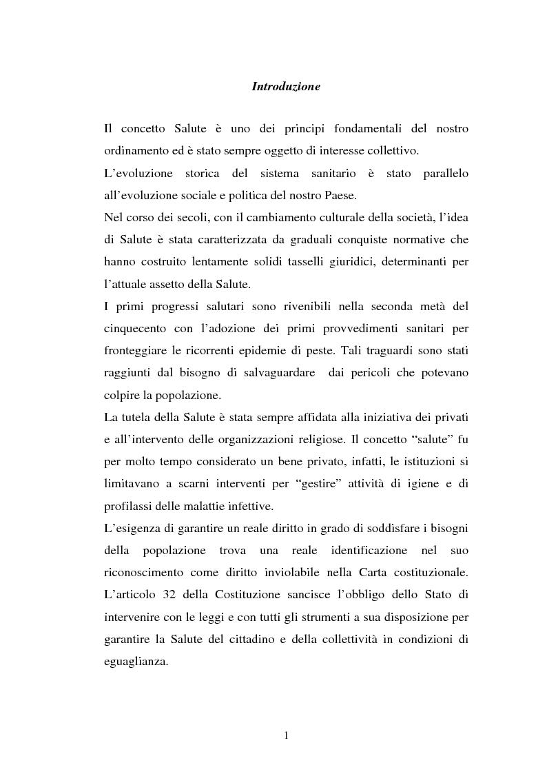 Anteprima della tesi: L'Azienda ospedaliera universitaria, Pagina 1