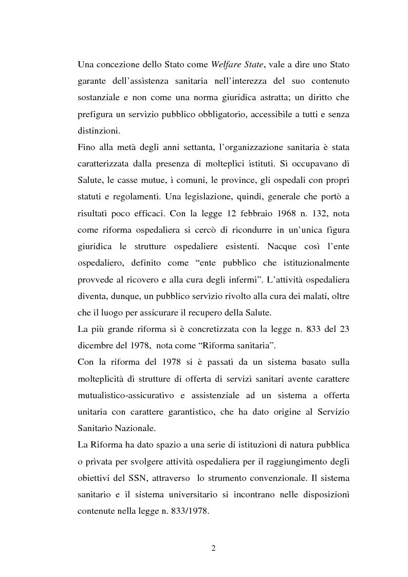 Anteprima della tesi: L'Azienda ospedaliera universitaria, Pagina 2