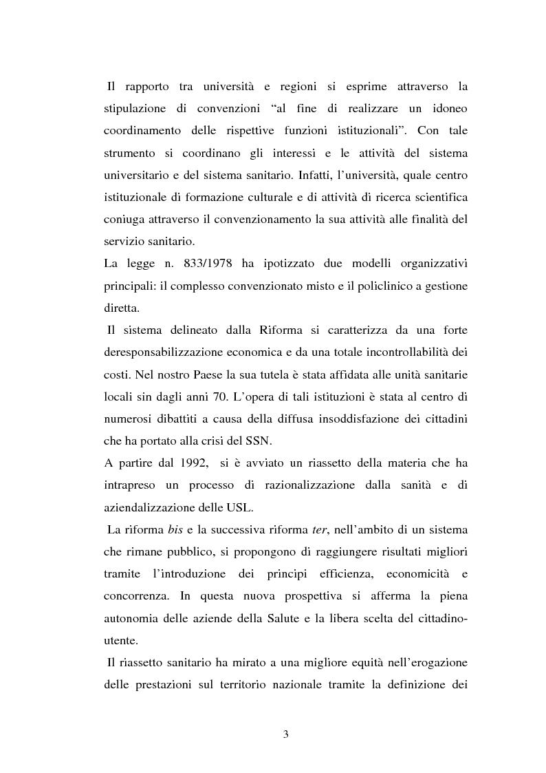 Anteprima della tesi: L'Azienda ospedaliera universitaria, Pagina 3