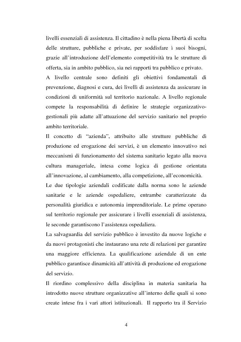 Anteprima della tesi: L'Azienda ospedaliera universitaria, Pagina 4