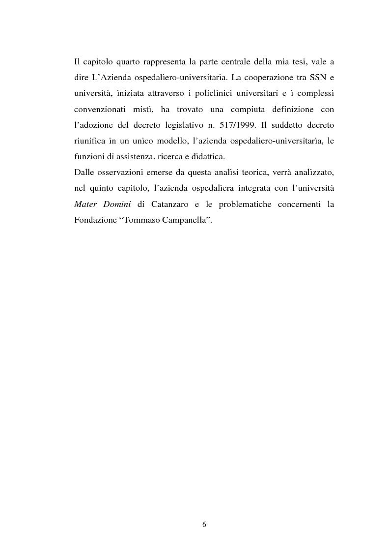 Anteprima della tesi: L'Azienda ospedaliera universitaria, Pagina 6