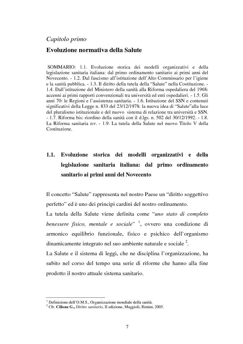 Anteprima della tesi: L'Azienda ospedaliera universitaria, Pagina 7