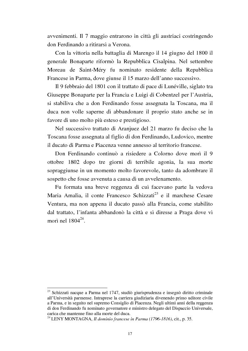 Anteprima della tesi: Mademoiselle Françoise Raucourt prima attrice della Comédie-Française e della Compagnia Imperiale e Reale a Parma (1807-1813), Pagina 15