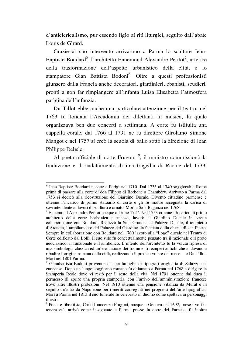 Anteprima della tesi: Mademoiselle Françoise Raucourt prima attrice della Comédie-Française e della Compagnia Imperiale e Reale a Parma (1807-1813), Pagina 7