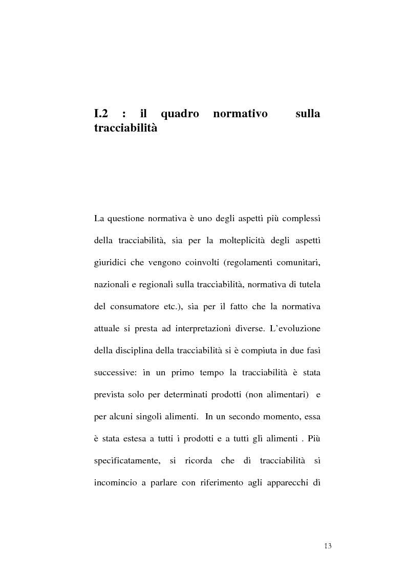 Anteprima della tesi: Tracciabilità: Uno strumento per gestire la concorrenza sul mercato internazionale, Pagina 11