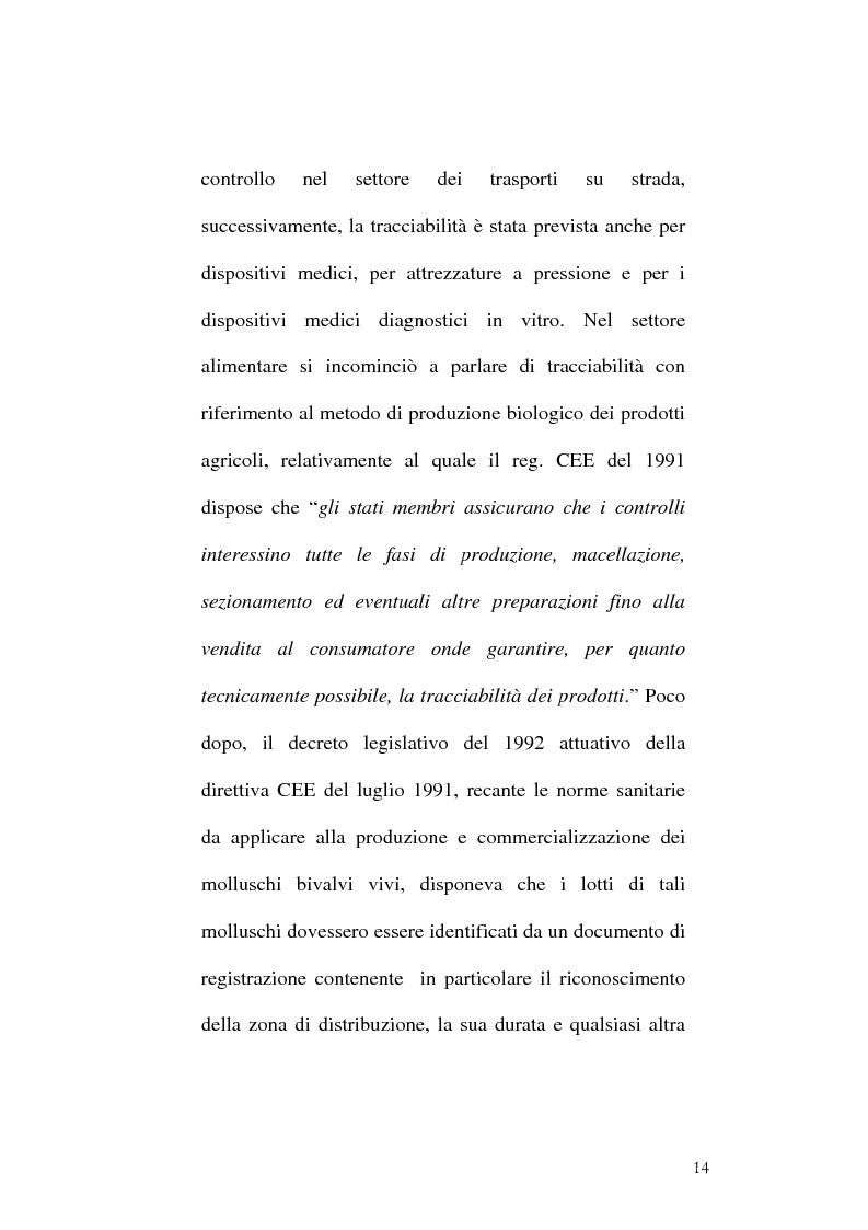 Anteprima della tesi: Tracciabilità: Uno strumento per gestire la concorrenza sul mercato internazionale, Pagina 12