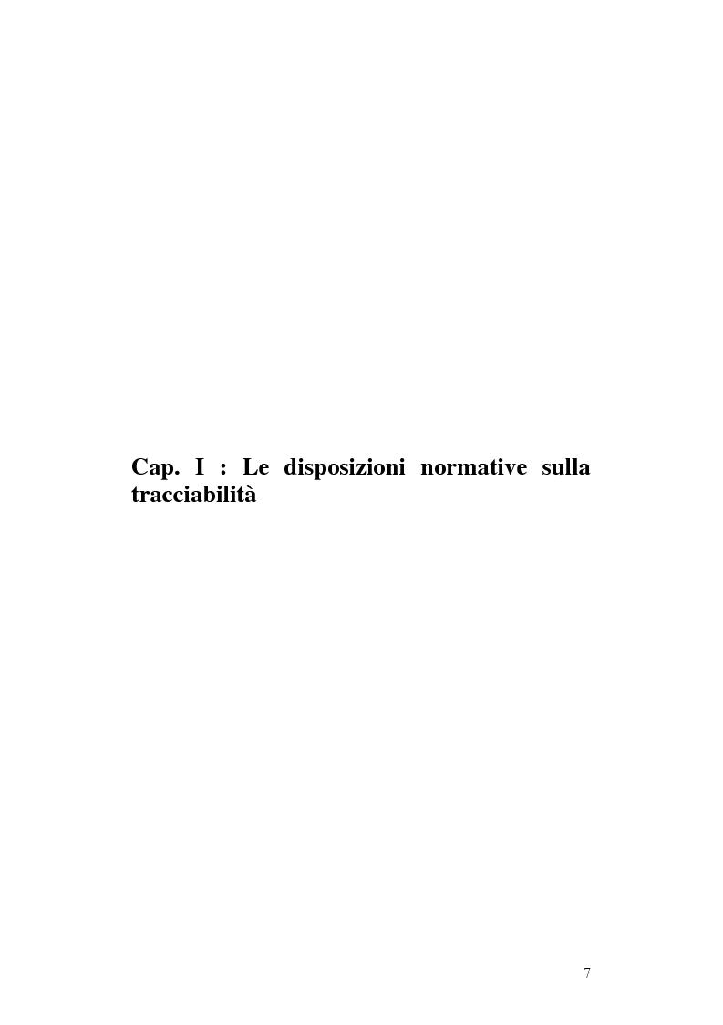 Anteprima della tesi: Tracciabilità: Uno strumento per gestire la concorrenza sul mercato internazionale, Pagina 5