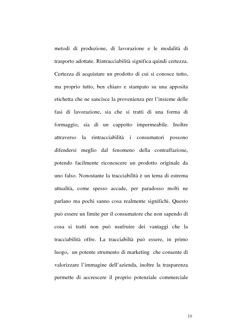 Anteprima della tesi: Tracciabilità: Uno strumento per gestire la concorrenza sul mercato internazionale, Pagina 8