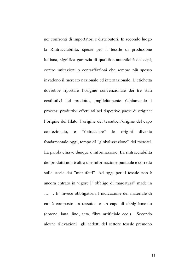 Anteprima della tesi: Tracciabilità: Uno strumento per gestire la concorrenza sul mercato internazionale, Pagina 9