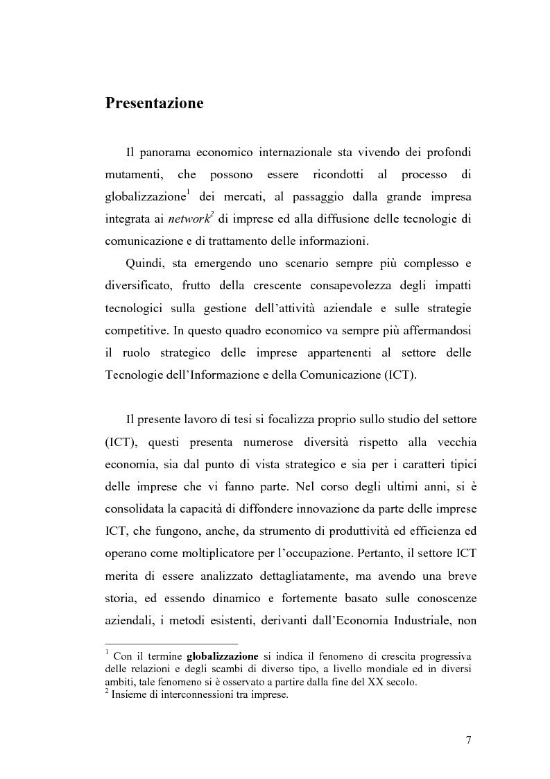 Anteprima della tesi: Problematiche di definizione ed analisi strategica nel settore delle Tecnologie dell'Informazione e della Comunicazione, Pagina 1