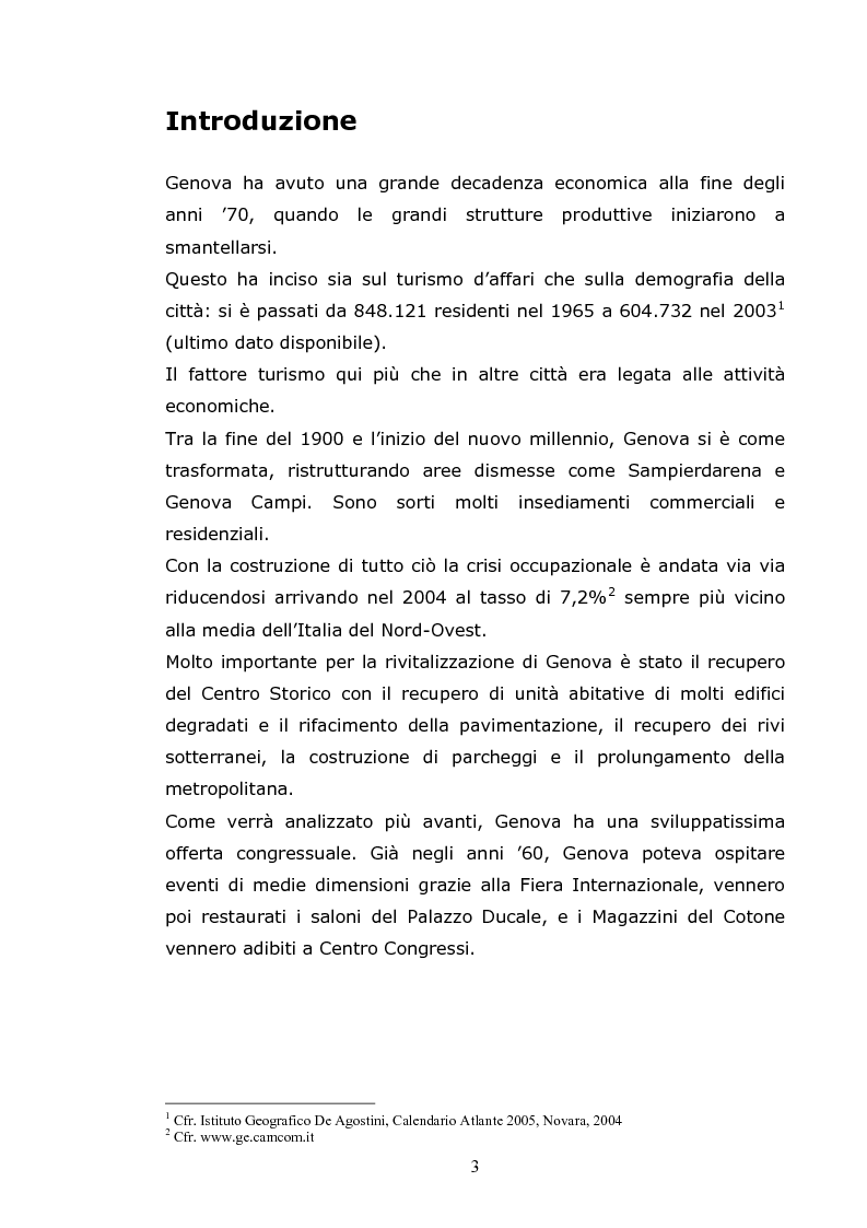 Anteprima della tesi: Gli eventi aggregativi a Genova, Pagina 1