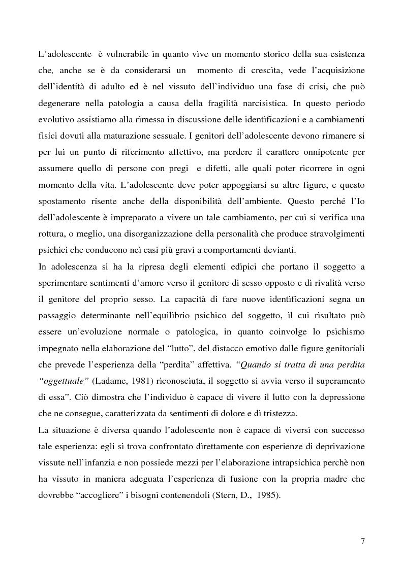 Anteprima della tesi: Cause e prevenzione della devianza giovanile, Pagina 5