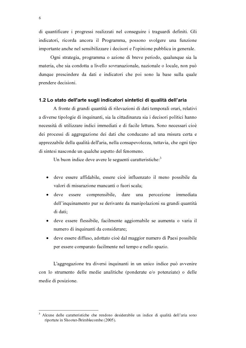 Anteprima della tesi: Confronto tra indici sintetici sulla qualità dell'aria e loro variabilità sul territorio, Pagina 2