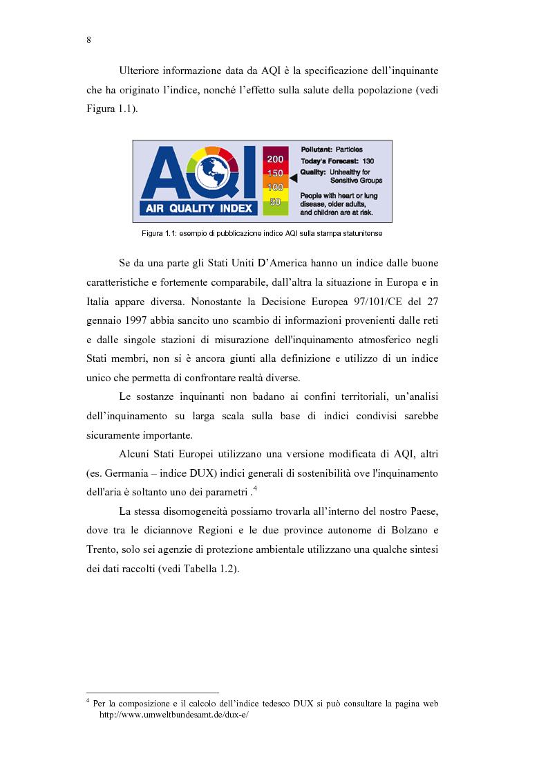 Anteprima della tesi: Confronto tra indici sintetici sulla qualità dell'aria e loro variabilità sul territorio, Pagina 4