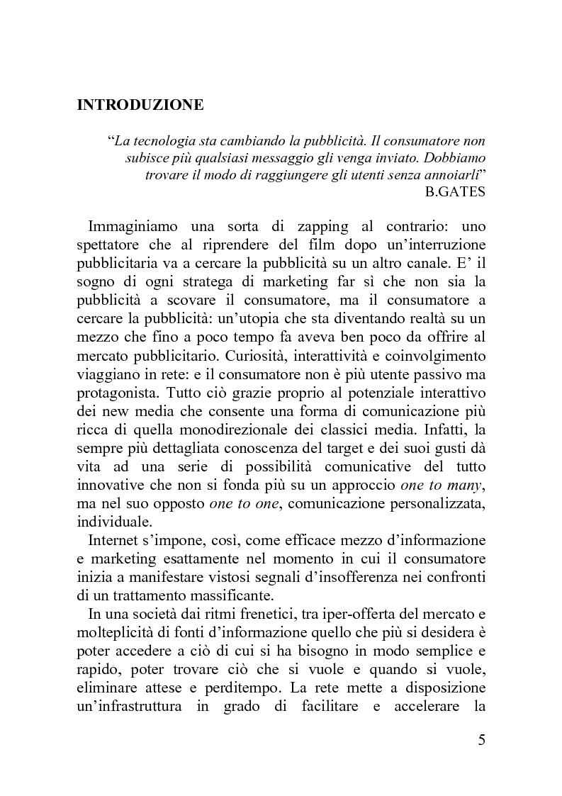 Anteprima della tesi: Advergame: quando la pubblicità diventa un gioco, Pagina 1