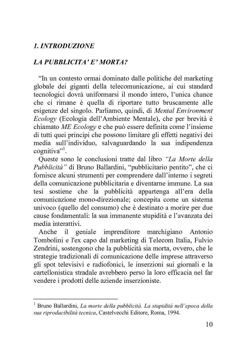Anteprima della tesi: Advergame: quando la pubblicità diventa un gioco, Pagina 6