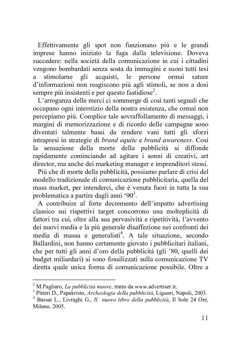 Anteprima della tesi: Advergame: quando la pubblicità diventa un gioco, Pagina 7