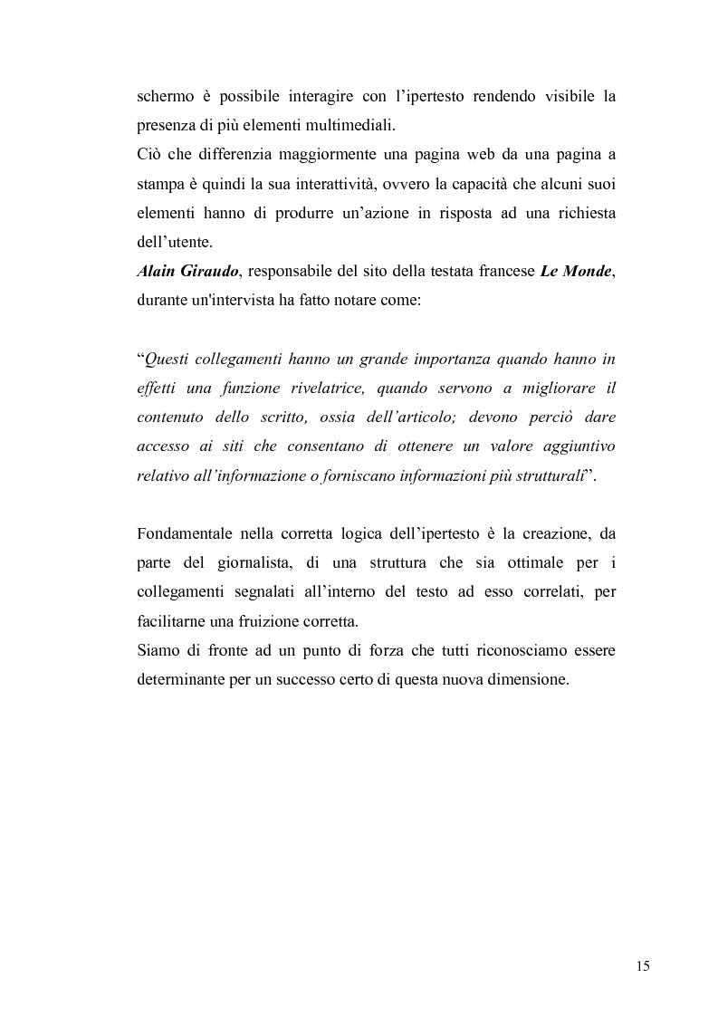 Anteprima della tesi: Dinamiche e frontiere del giornalismo on line. Il caso del Giornale dell'Umbria., Pagina 10