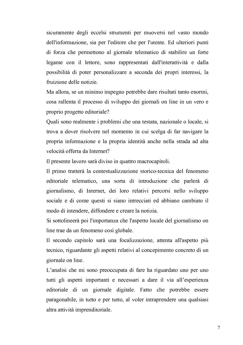 Anteprima della tesi: Dinamiche e frontiere del giornalismo on line. Il caso del Giornale dell'Umbria., Pagina 2