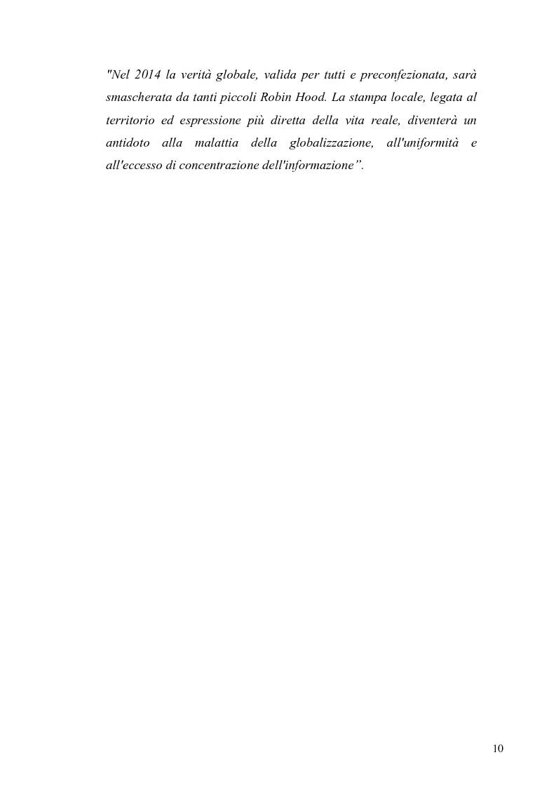 Anteprima della tesi: Dinamiche e frontiere del giornalismo on line. Il caso del Giornale dell'Umbria., Pagina 5