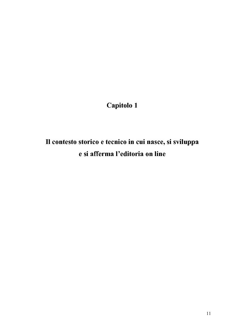 Anteprima della tesi: Dinamiche e frontiere del giornalismo on line. Il caso del Giornale dell'Umbria., Pagina 6