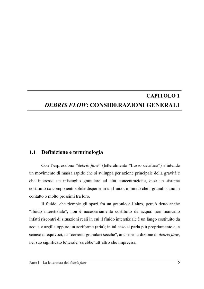 Anteprima della tesi: Indagine sperimentale sul ruolo della scabrezza nel moto di correnti granulari, Pagina 5