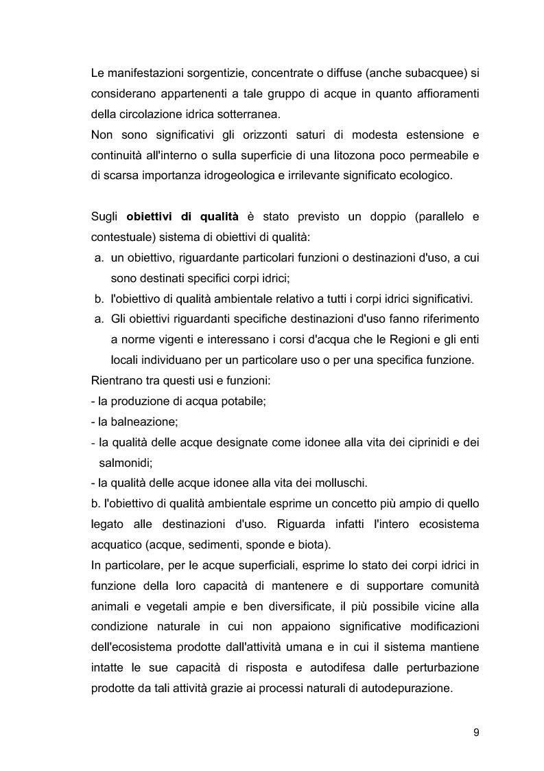 """Anteprima della tesi: Il ruolo delle Associazioni Ambientaliste nel monitoraggio ambientale. Le acque di balneazione: il caso """"Goletta Verde""""., Pagina 10"""