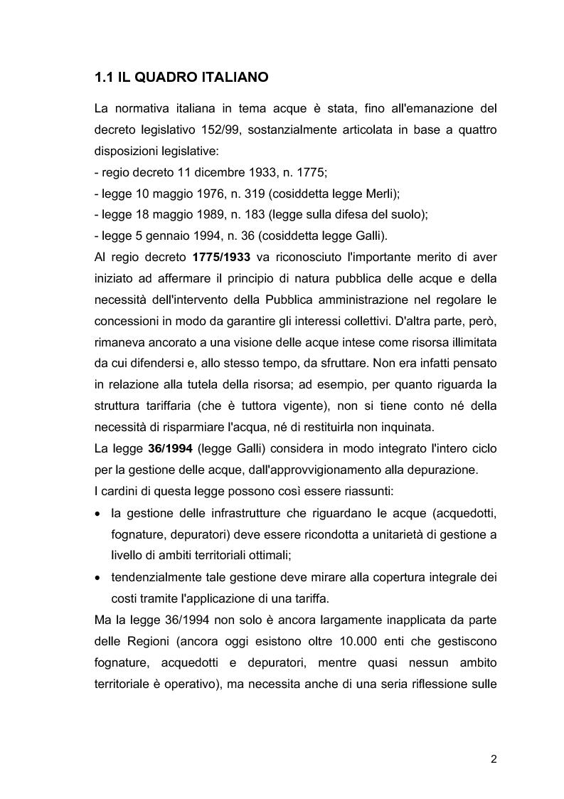 """Anteprima della tesi: Il ruolo delle Associazioni Ambientaliste nel monitoraggio ambientale. Le acque di balneazione: il caso """"Goletta Verde""""., Pagina 3"""