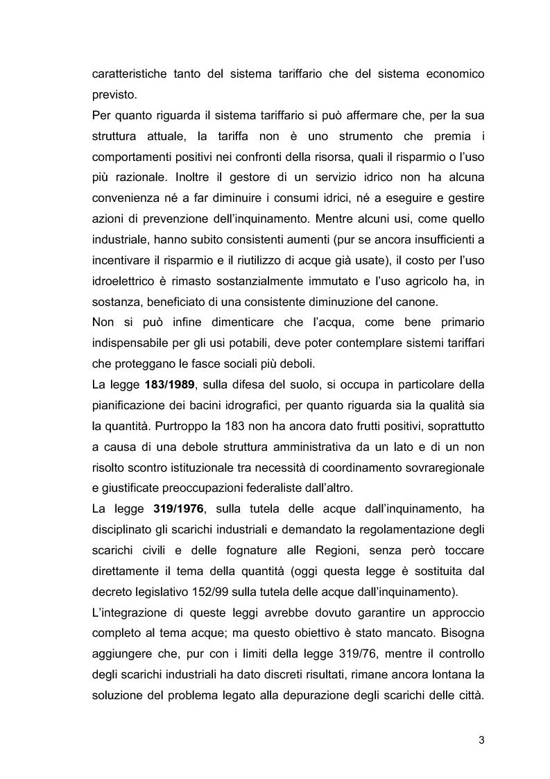 """Anteprima della tesi: Il ruolo delle Associazioni Ambientaliste nel monitoraggio ambientale. Le acque di balneazione: il caso """"Goletta Verde""""., Pagina 4"""