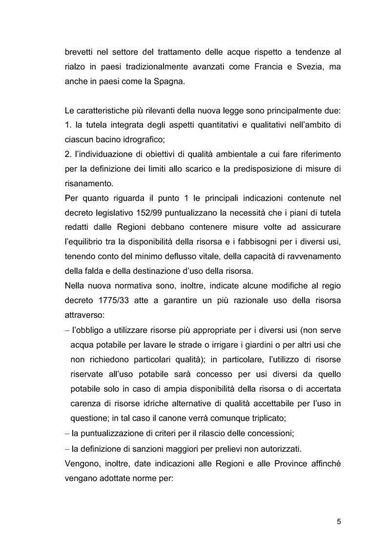"""Anteprima della tesi: Il ruolo delle Associazioni Ambientaliste nel monitoraggio ambientale. Le acque di balneazione: il caso """"Goletta Verde""""., Pagina 6"""