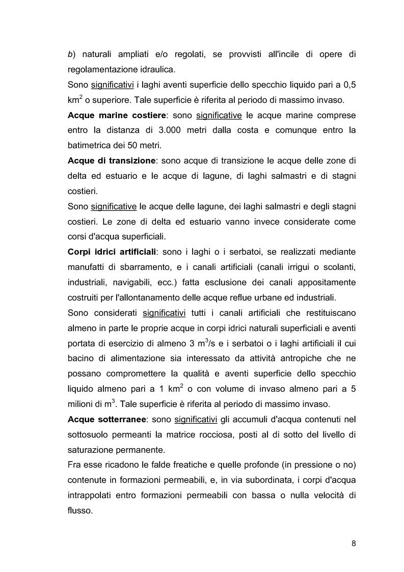 """Anteprima della tesi: Il ruolo delle Associazioni Ambientaliste nel monitoraggio ambientale. Le acque di balneazione: il caso """"Goletta Verde""""., Pagina 9"""