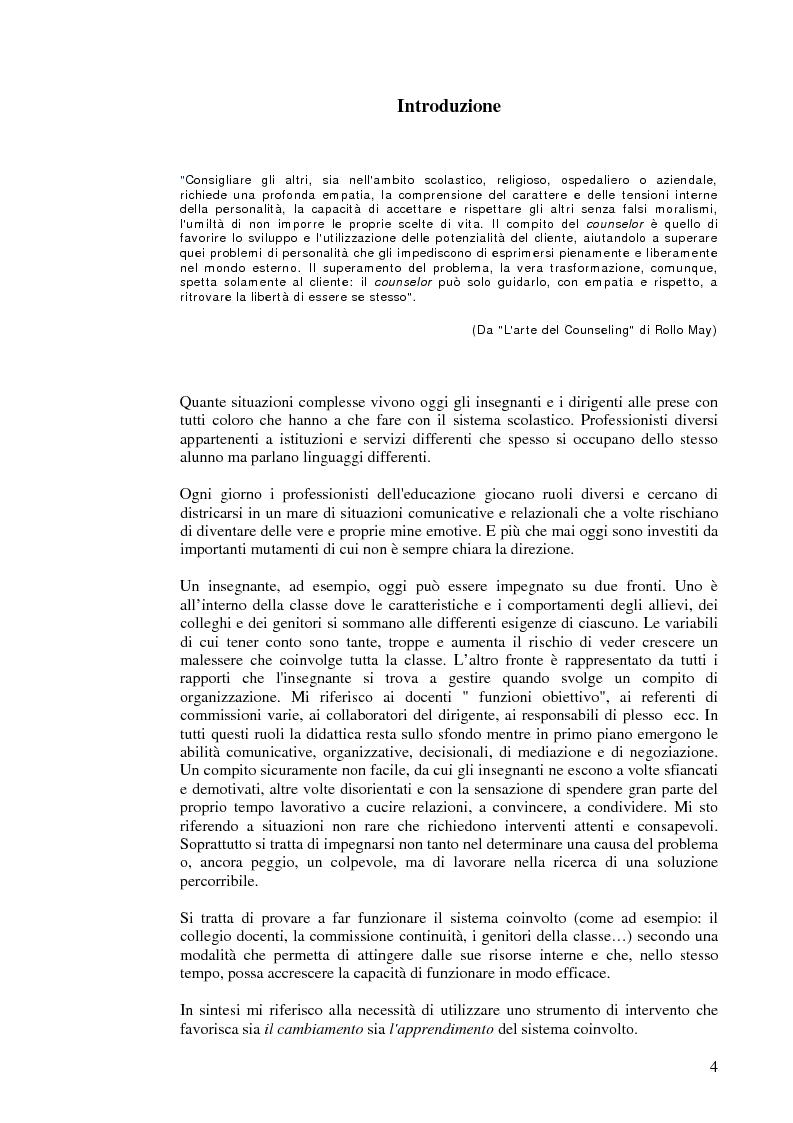 Anteprima della tesi: Aiutare le persone ad aiutarsi. La buona comunicazione a scuola., Pagina 1