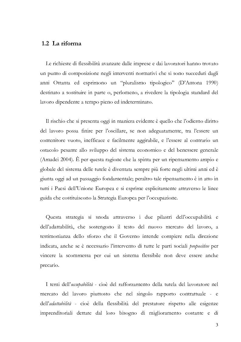 Anteprima della tesi: La tenuta costituzionale della riforma del mercato del lavoro nella sentenza n. 50/2005, Pagina 2