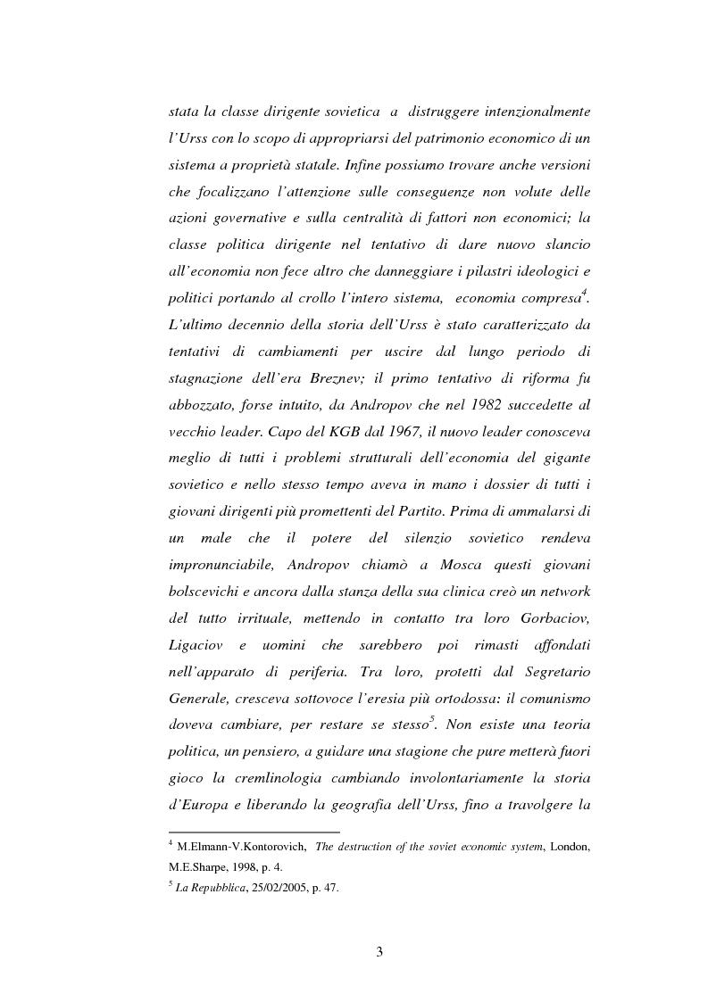 Anteprima della tesi: L'Urss dalla perestrojka al crollo, Pagina 3