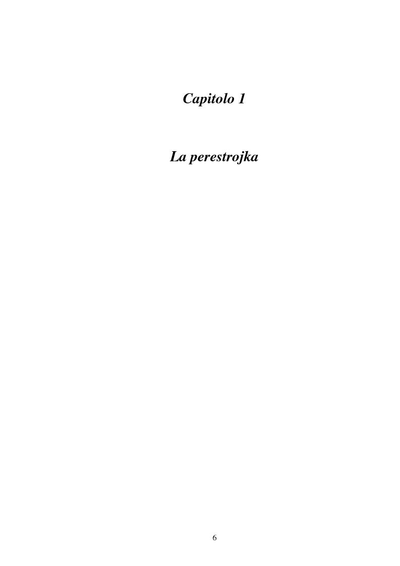 Anteprima della tesi: L'Urss dalla perestrojka al crollo, Pagina 6