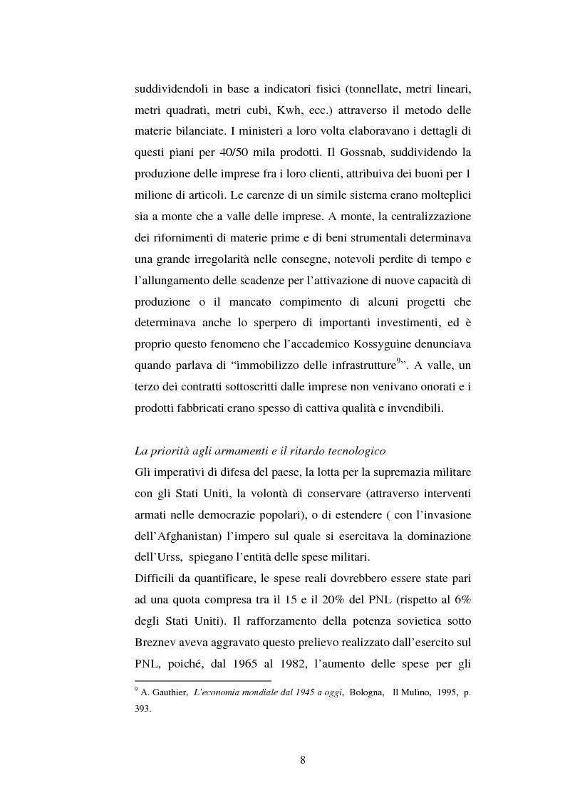Anteprima della tesi: L'Urss dalla perestrojka al crollo, Pagina 8