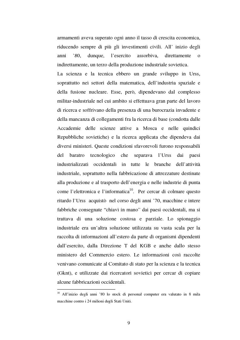 Anteprima della tesi: L'Urss dalla perestrojka al crollo, Pagina 9