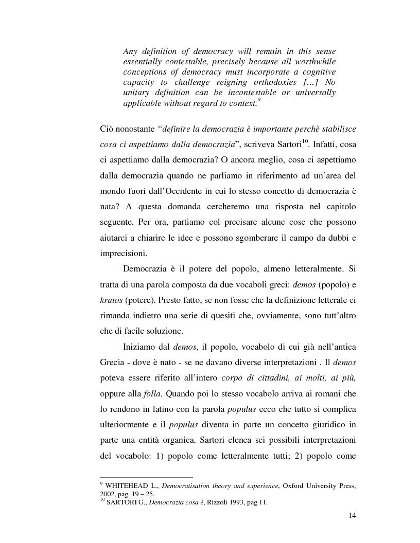 Anteprima della tesi: Istituzioni democratiche vs Democrazia. Il caso dei paesi musulmani, Pagina 10