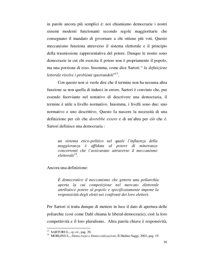 Anteprima della tesi: Istituzioni democratiche vs Democrazia. Il caso dei paesi musulmani, Pagina 12