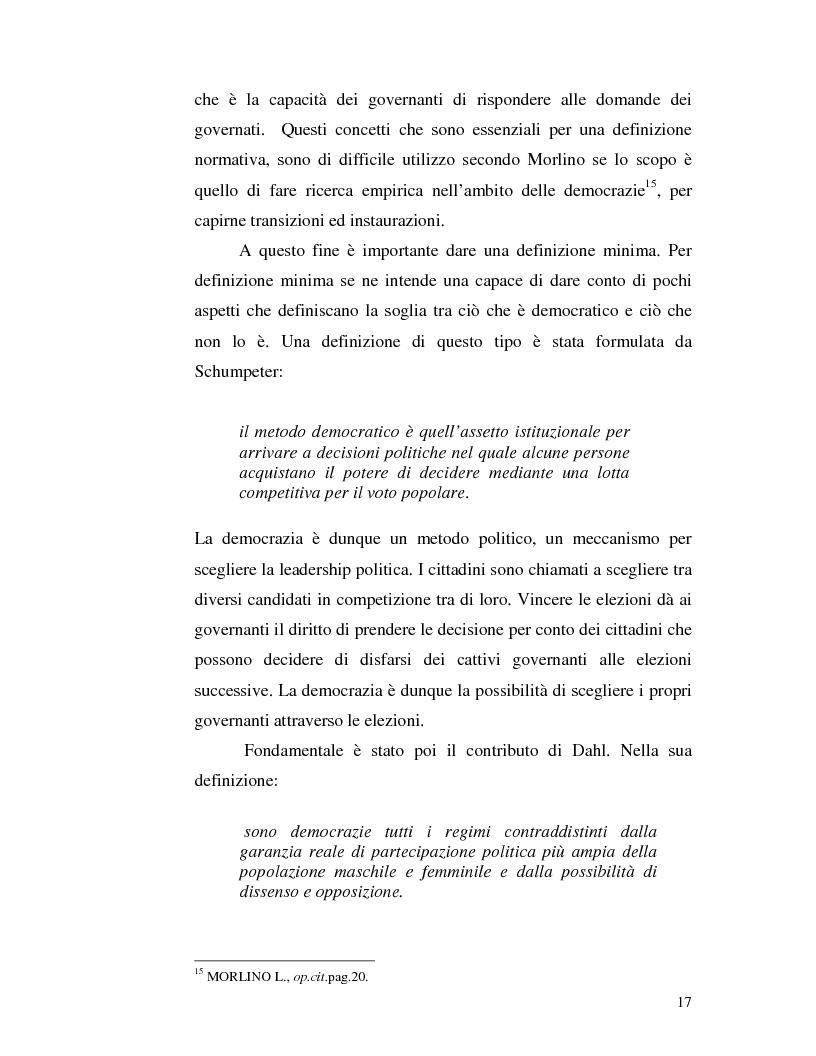 Anteprima della tesi: Istituzioni democratiche vs Democrazia. Il caso dei paesi musulmani, Pagina 13