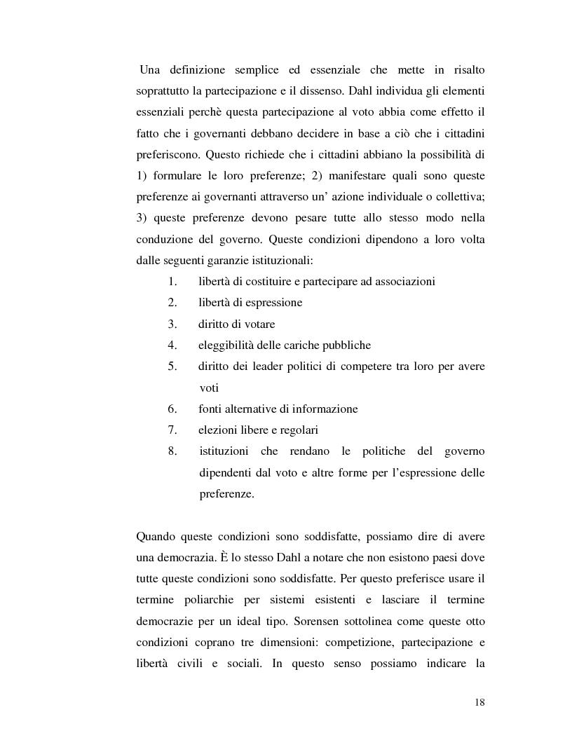 Anteprima della tesi: Istituzioni democratiche vs Democrazia. Il caso dei paesi musulmani, Pagina 14